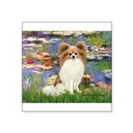 Lilies & fawn Papillon Square Sticker 3