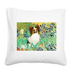 Irises / Papillon Square Canvas Pillow
