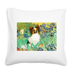 Irises / Papillon Square Canvas Pillow