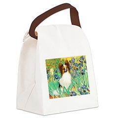 Irises / Papillon Canvas Lunch Bag