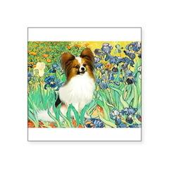 Irises / Papillon Square Sticker 3