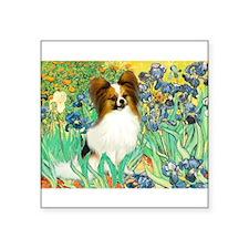 "Irises / Papillon Square Sticker 3"" x 3"""