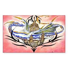 Irises / Pekingese(r&w) Cork Coaster