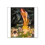 Fairies / Pekingese(r&w) Square Sticker 3
