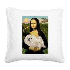 Mona /Pekingese (w) Square Canvas Pillow