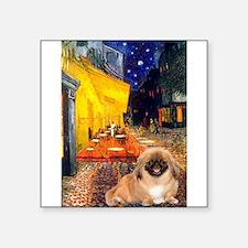 "Cafe /Pekingese (r) Square Sticker 3"" x 3"""
