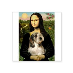 Mona Lisa / PBGV Square Sticker 3