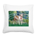 Bridge / Pitbull Square Canvas Pillow