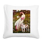 Windflowers / Pitbull Square Canvas Pillow