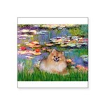 Lilies2/Pomeranian #4 Square Sticker 3