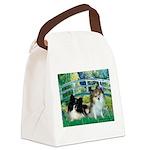Bridge / 2 Pomeranians Canvas Lunch Bag