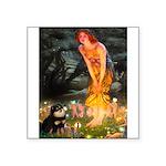 Fairies / Pomeranian (b&t) Square Sticker 3