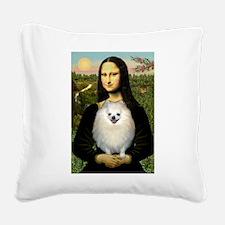 Mona / Pomeranian(w) Square Canvas Pillow