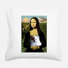 Mona / Pomeranian(r&w) Square Canvas Pillow