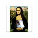 Mona / Pomeranian(r&w) Square Sticker 3