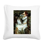 Ophelia / Pomeranian (p) Square Canvas Pillow