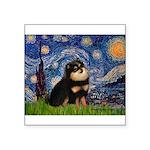 Starry Night / Pomeranian(b&t) Square Sticker 3
