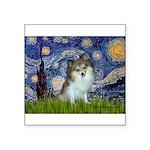 Starry Night /Pomeranian (p) Square Sticker 3