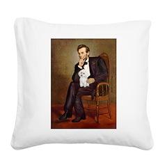 Lincoln/Poodle (W-Min) Square Canvas Pillow