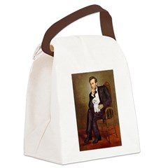 Lincoln/Poodle (W-Min) Canvas Lunch Bag