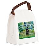 Bridge / Poodle (Black) Canvas Lunch Bag