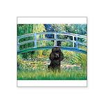 Bridge / Poodle (Black) Square Sticker 3