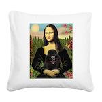 Mona / Poodle (bl) Square Canvas Pillow