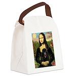 Mona / Poodle (bl) Canvas Lunch Bag