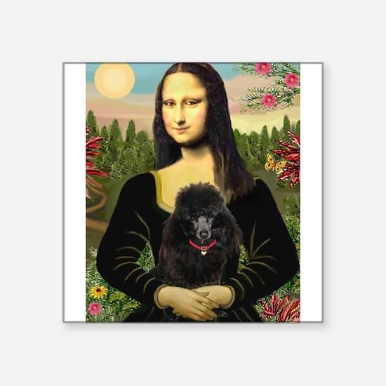"""Mona / Poodle (bl) Square Sticker 3"""" x 3"""""""