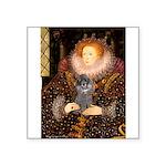 Elizabeth / Poodle (Silver) Square Sticker 3