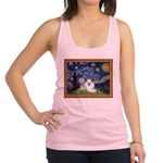 Starry Night / Poodle(w) Racerback Tank Top