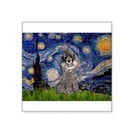 Starry Night / Poodle (s) Square Sticker 3