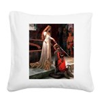 Accolade / Poodle (Apricot) Square Canvas Pillow