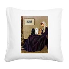 Whistler's / 3 Poodles Square Canvas Pillow