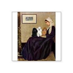 Whistler's / 3 Poodles Square Sticker 3