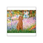 Garden/Std Poodle (apricot) Square Sticker 3