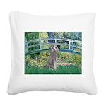 Bridge/Std Poodle silver) Square Canvas Pillow