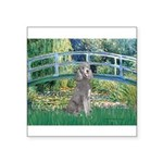 Bridge/Std Poodle silver) Square Sticker 3