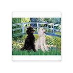 Bridge / Std Poodle (pr) Square Sticker 3