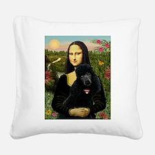 Mona / Std Poodle (bl) Square Canvas Pillow