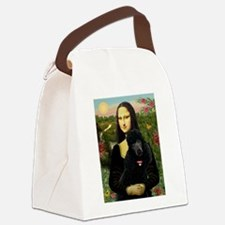 Mona / Std Poodle (bl) Canvas Lunch Bag