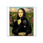 Mona / Std Poodle (bl) Square Sticker 3