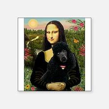 "Mona / Std Poodle (bl) Square Sticker 3"" x 3"""