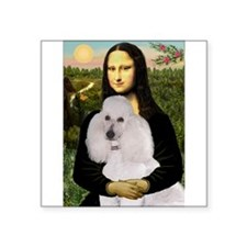 "Mona / Std Poodle(w) Square Sticker 3"" x 3"""