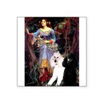 Ophelia /2 Poodles(b&w) Square Sticker 3