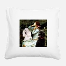 Ophelia / Poodle pair Square Canvas Pillow