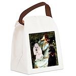 Ophelia / Poodle pair Canvas Lunch Bag