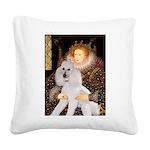 Queen / Std Poodle(w) Square Canvas Pillow