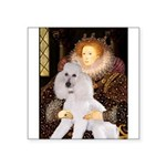 Queen / Std Poodle(w) Square Sticker 3