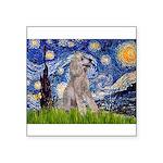 Starry / Std Poodle (s) Square Sticker 3